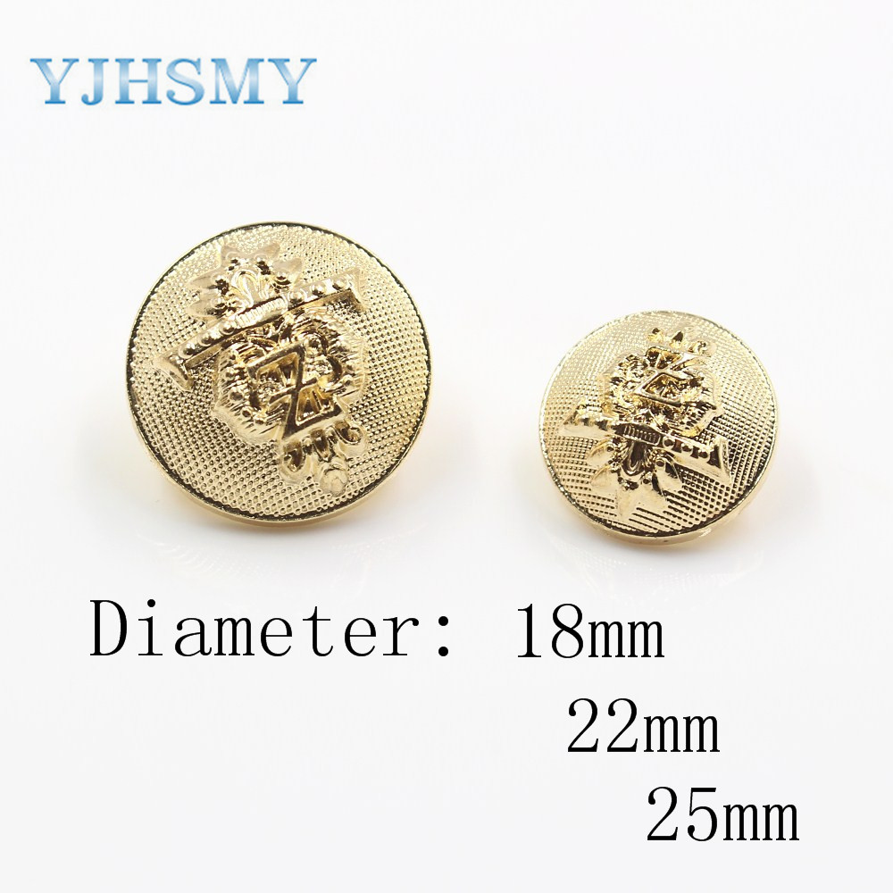 12PCS Copper Flower Carving Round Shank Buttons Sewing DIY 15mm 18mm 23mm 25mm