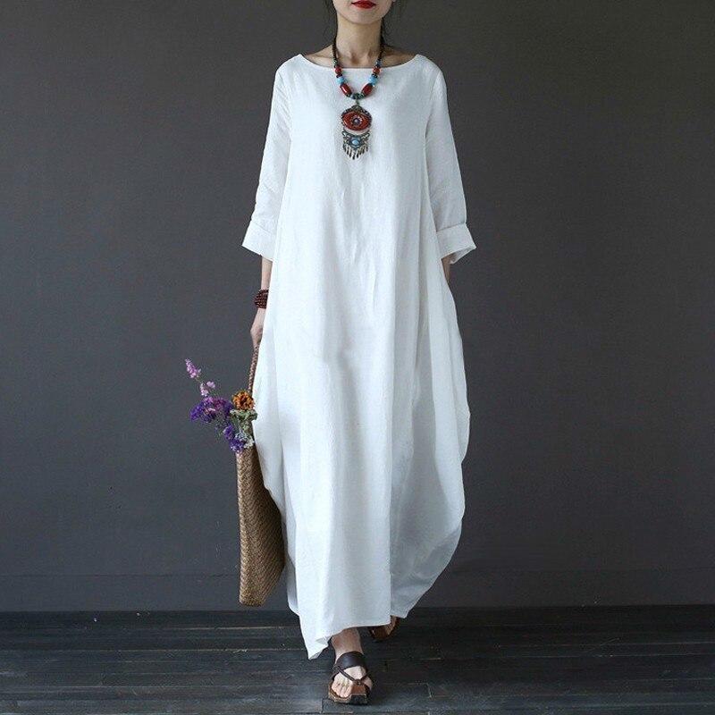 SHENGPALAE 2019 Spring Plus Dresses Women 4xl 5xl ...