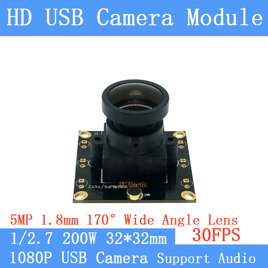 2MP 170 degree Wide Angle Surveillance camera 1080P Full Hd MJPEG 30fps High Speed Android Linux UVC Webcam USB Camera Module2MP 170 degree Wide Angle Surveillance camera 1080P Full Hd MJPEG 30fps High Speed Android Linux UVC Webcam USB Camera Module