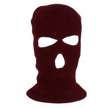 Черная велосипедная моторная полная маска для лица теплая зимняя армейская Лыжная шапка для альпинизма шеи теплая маска для лица