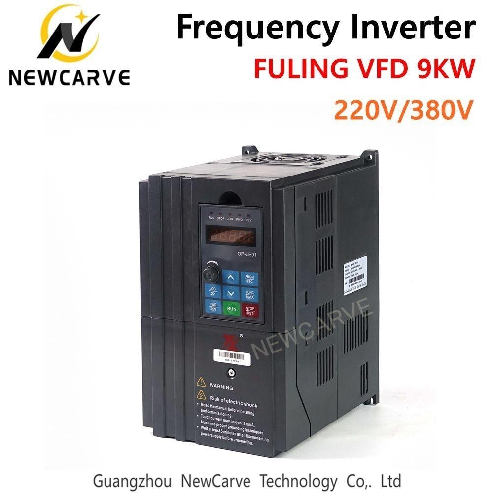 FULING 9KW VFD convertisseur de fréquence onduleur pour 9KW 220 V 380 V CNC ATC broche moteur NEWCARVE