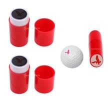 2 шт abs Пластик легкий мяч для гольфа штампа Гольф впечатление
