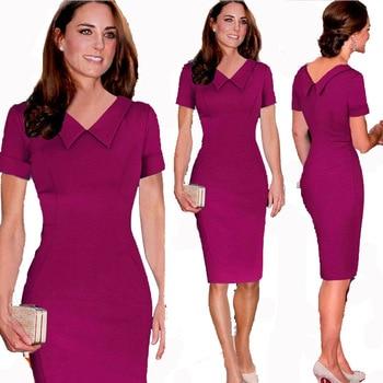 2020 Kate Middleton Inspired Slim Strech Vestidas 2