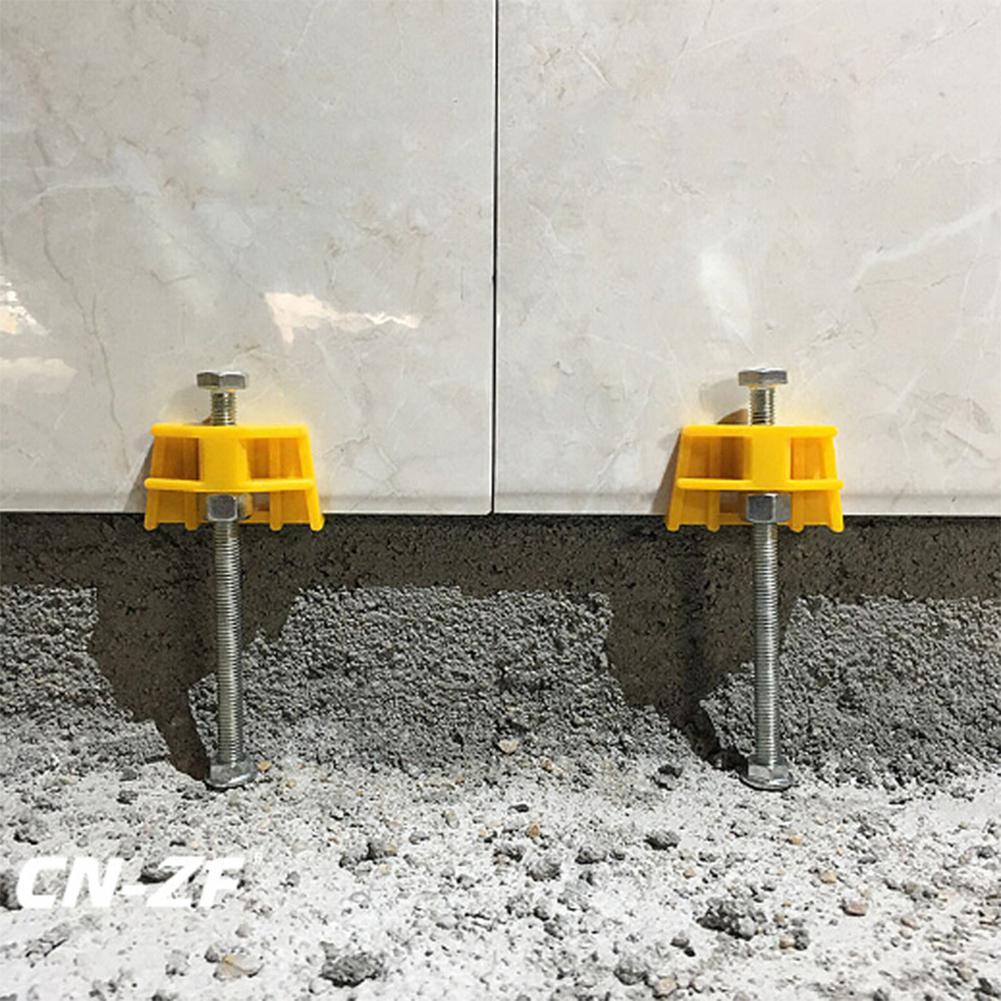 50pcs Wall Leveling Tiling Elevating Screw Adjuster Regulator Ceramic Tile Alignment Position Wall Tile Height Locator