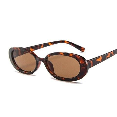 Style Oval Sunglasses Women Vintage Retro Round Frame White Mens Sun Glasses Female Black Hip Hop Clear Glasses UV400 Multan