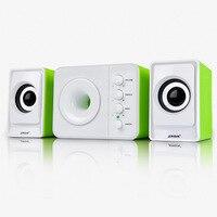SADA D 205 3 in 1 PC Computer Speakers Set Mini Desktop Music Subwoofer USB NOTEBOOK Speaker for PC Phones