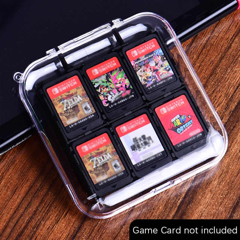 Game Cards Case Portable Protective ABS Hard Shell Game Cards Storage Box With 12 Game Cartridges Holder For Nintendo Switch