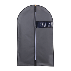 Image 5 - Clothes Dust Cover Non woven fabric Case for Household Hanging type Coat Suit Protect Storage Bag Wardrobe Organizer AQ065