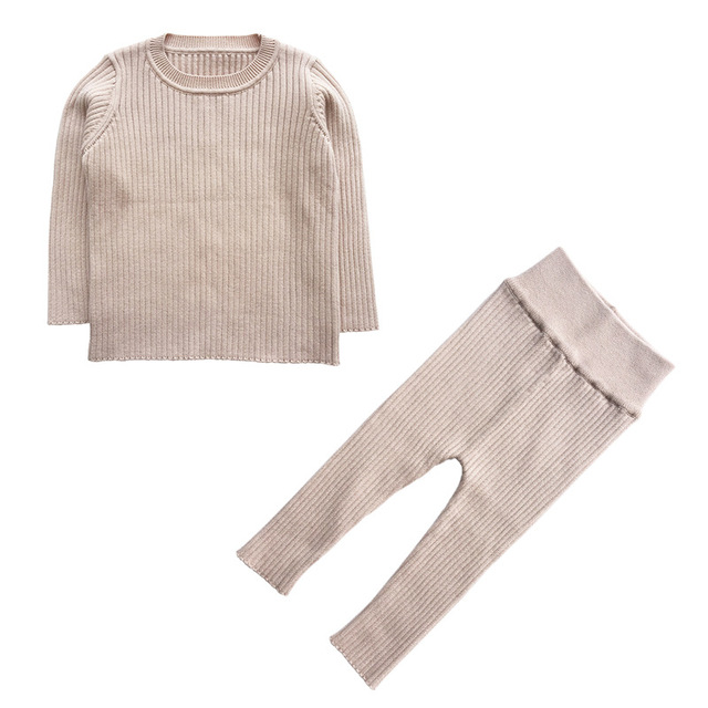 7eeb86b54 2019 Spring New 9M 4T Winter Baby Girl Clothes Set Knitted Boys Set ...