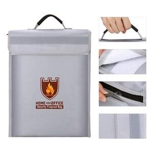 Image 3 - Bolsa portadocumentos a prueba de fuego, bolsa de seguridad para el hogar y la Oficina, resistente al fuego, carpeta de archivos, bolsa de almacenamiento segura