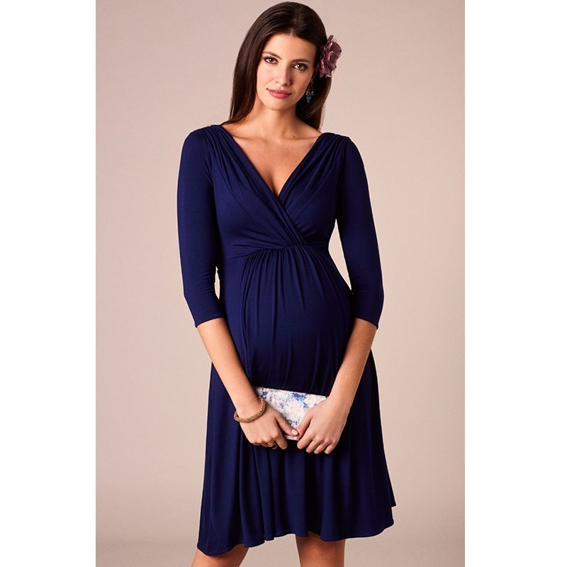 60c16bc1a31db ENXI Christmas Pregnant Women Evening Party Dress Elegant Summer Lady Dress  Maternity Clothes Plus Size V Neck Maternity Dresses-in Dresses from Mother  ...