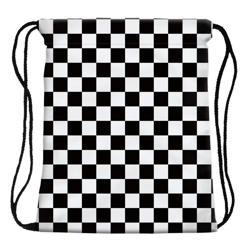 Deanfun Women 3D Printing Drawstring Bag Black White Geometric Backpack Travel Softback Mens Backpacks 28316 Deanfun Women 3D Printing Drawstring Bag Black White Geometric Backpack Travel Softback Mens Backpacks 28316