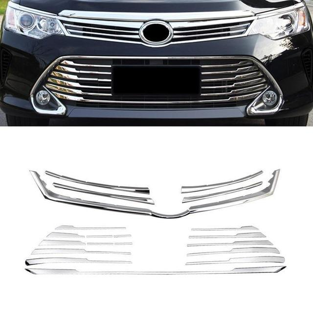 Automovil Chromium Grille Exterior Dashing Car Styling Mouldings Sticker Strip Decoration Modification 15 16 FOR Toyota Camry