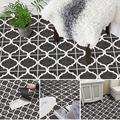 Cajones coloridos mosaico azul marino negro blanco zapatos for Suelo pvc autoadhesivo