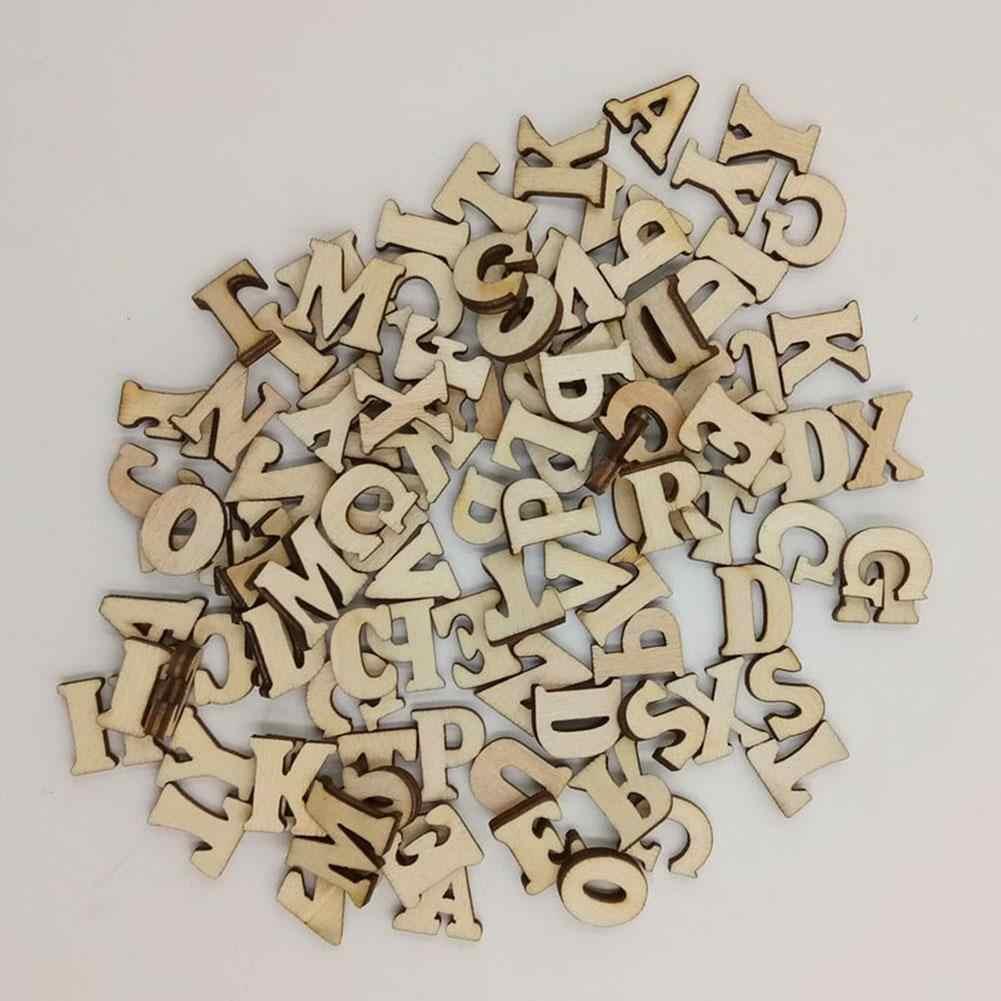 100 шт смешанный Деревянный алфавит, буквы, цифры, кнопки DIY ремесло шитье скрапбукинг