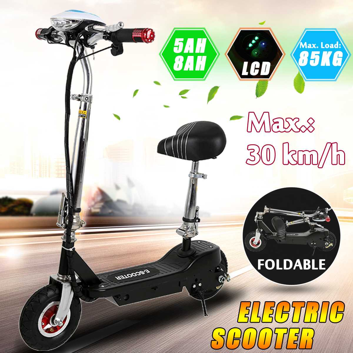 300W 36V MINI Foldable Electric Car Mobility Scooter with Seat Commute Urban Terrain Adult Cycle300W 36V MINI Foldable Electric Car Mobility Scooter with Seat Commute Urban Terrain Adult Cycle