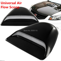 Black Painted ABS Plastic Racing Air Flow Vent Turbo Hood Scoop Universal|Hoods|   -