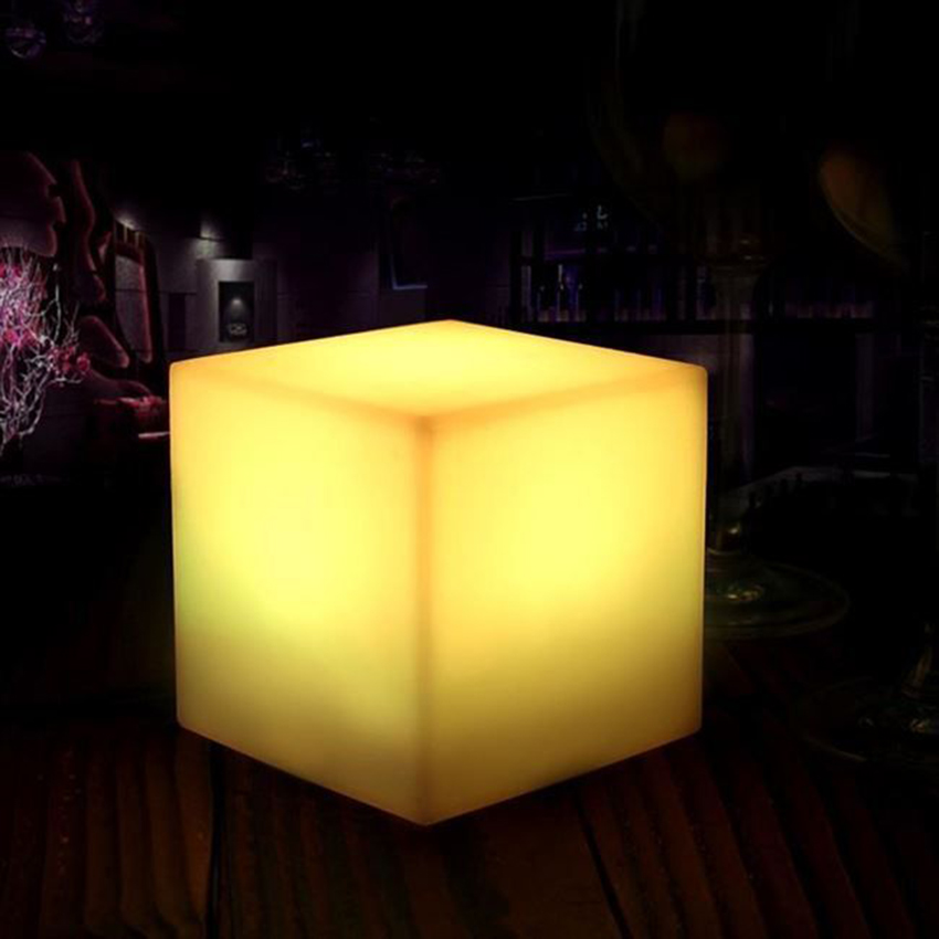 <font><b>LED</b></font> <font><b>Cube</b></font> Table Light Remote Control 16 Colors Change Holiday Wedding Bar Party Indoor Decoration Lighting <font><b>LED</b></font> Lights Desk Lamp image