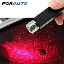 FORAUTO светодиодный Ночной светильник на крышу автомобиля Звезда проектор атмосфера Галактическая лампа USB декоративная лампа Регулируемая несколько световых эффектов