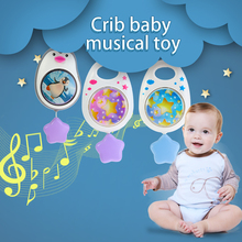 3 цвета, подвесная музыкальная детская игрушка-погремушка для переносное детское кресло для кроватки, развивающая игрушка для путешествий, Детская пустышка без аккумулятора, не требует игрушек