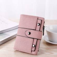 Women Wallet Simple Retro Rivets Short Wallet Coin Purse Card Holders Handbag for Girls Purse Small Wallet Ladies Bolsa 9(China)