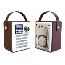 Multifunctional Retro Radio DAB Digital FM Portable WiFi Internet Alarm Clock Wooden Box Speaker Support Bluetooth TFCard