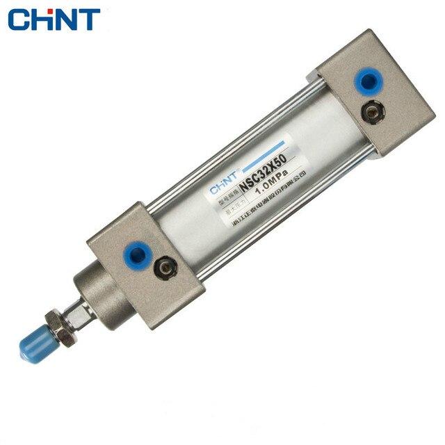 CHINT SC צילינדרים משחק כפול פנאומטי בוכנה צילינדר 32 MM נשא 25/50/75/100/125 /150/175/200/250/300/400/500mm שבץ