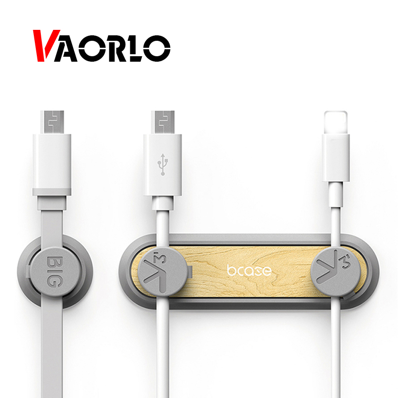 VAORLO Cable Organizer Magnetic Cable Clip For Data Cable Winder For USB Cable Holder Desktop Plug Silicone Wire Retention Clips