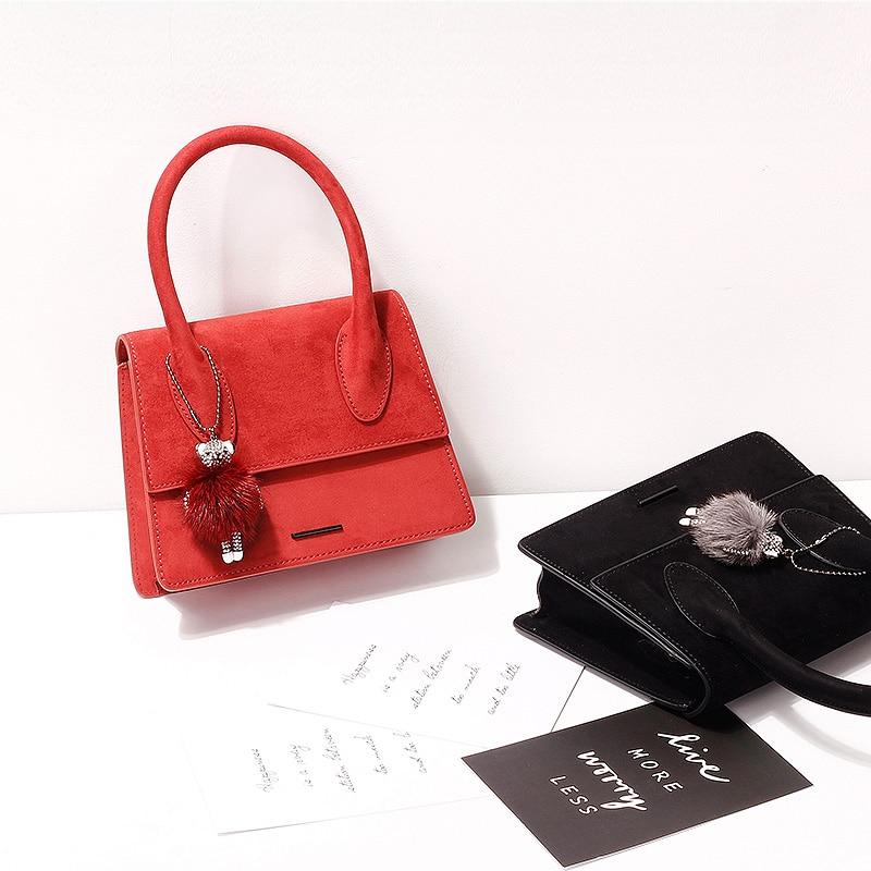 2019 새로운 제품 나열 패션 핸드백 트렌드 여성 가방 스웨이드 가방-에서탑 핸드백부터 수화물 & 가방 의  그룹 1