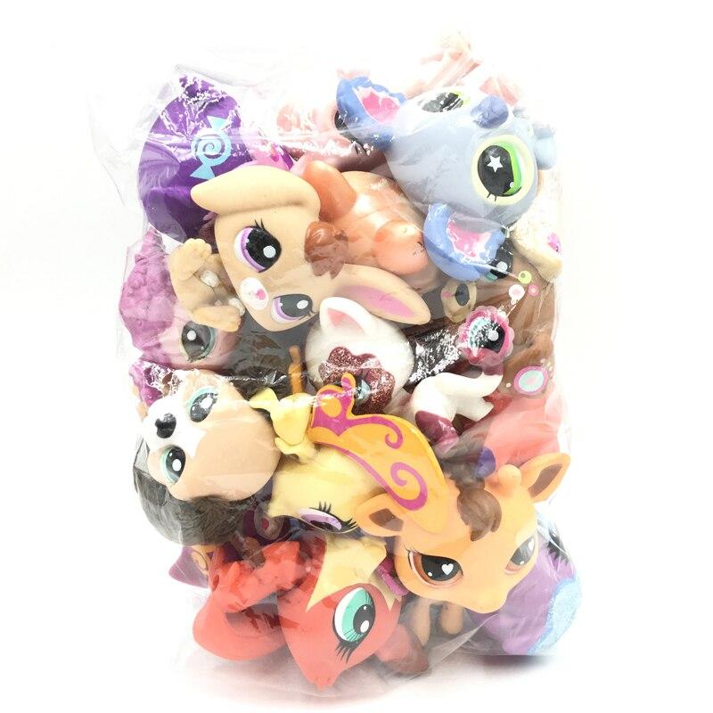 Cute Doll Little Animal Pet Model Toys 10Pcs/bag Mini Cat Dog Old Pet Shop Lps Toy For Children