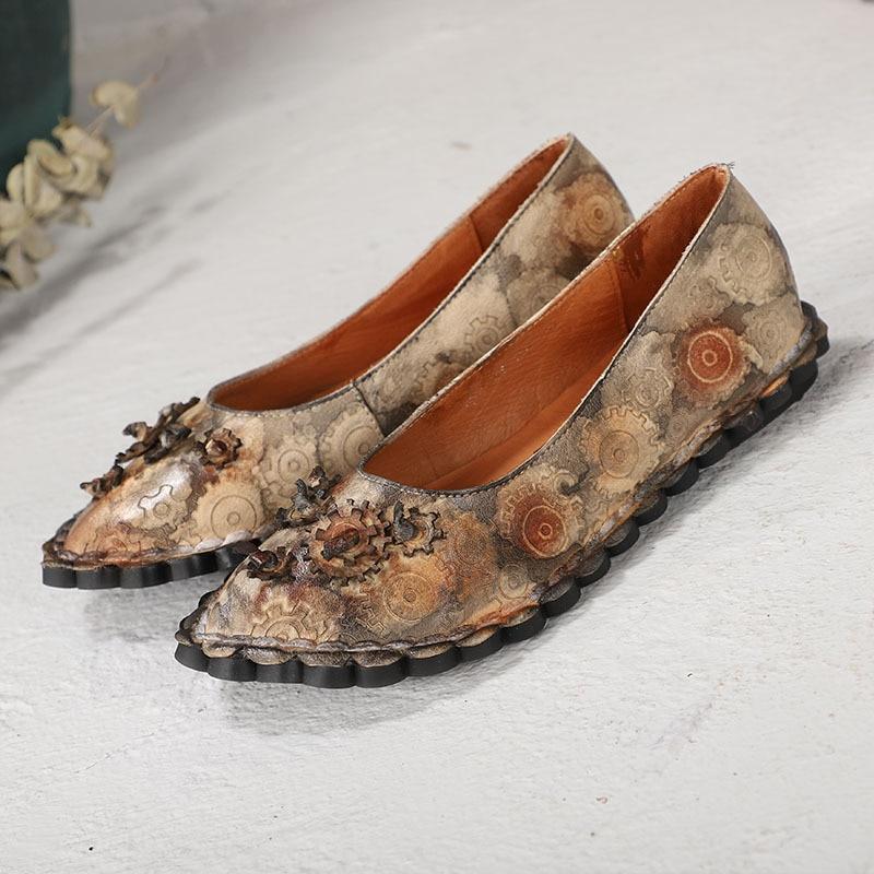Pour D'été Mocassins Printemps Femelle Grey Plats Véritable Doux Makasins De En Femmes Ballet Dames Chaussures Mo Slipona Brown Cuir wgP0PO