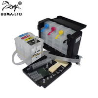BOMA.LTD Free Post Bulk Ink Ciss System For HP 940 Officejet Pro 8500 8000 8500A Plus Printer With Auto Reset Cartridge Chip