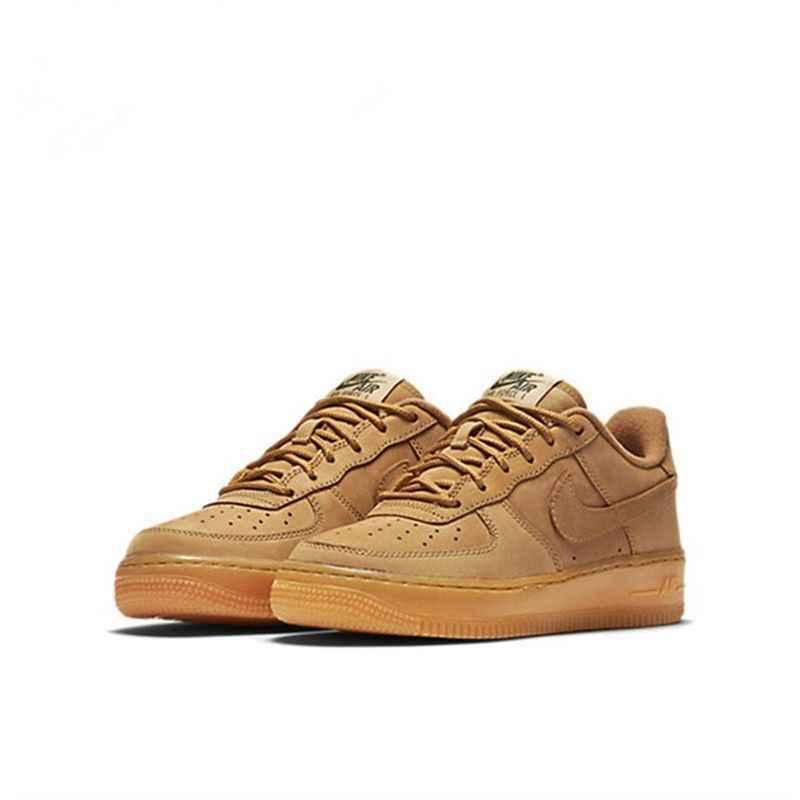 Nike Air Force 1 AF1 chaussures de skate respirantes pour hommes blé baskets basses de sport de plein Air #888853-200