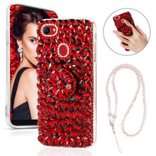 US $4.69 35% OFF|For Oppo F9 Case Glitter 3D Crystal Rhinestone Soft TPU Frame Acrylic Hard Cover For Oppo F7/F7 Youth Case Diamond Bracket Stand-in Rhinestone Cases from Cellphones & Telecommunications on Aliexpress.com | Alibaba Group