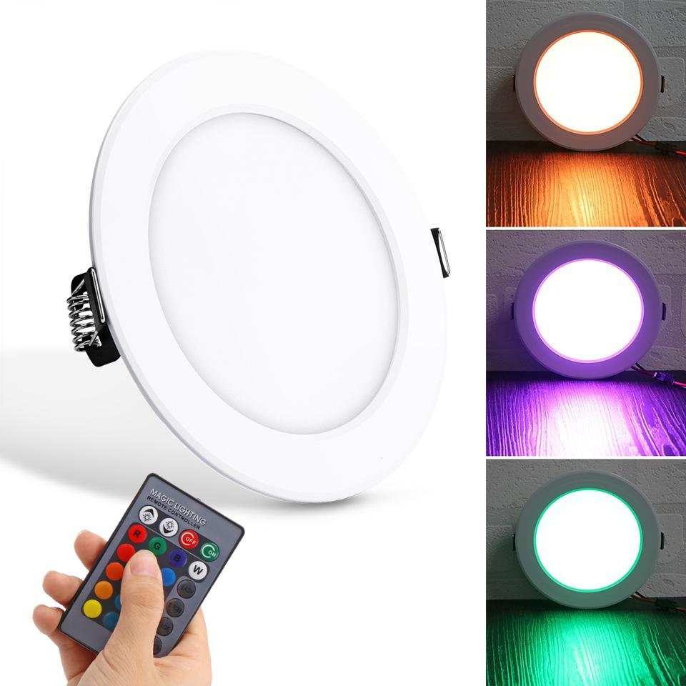 10W RGB Ceiling Lamp Aluminum 85-265V Colors Changing Remote Control Dimmable Downlight Spot Lights Indoor Lighting Bar KTV10W RGB Ceiling Lamp Aluminum 85-265V Colors Changing Remote Control Dimmable Downlight Spot Lights Indoor Lighting Bar KTV