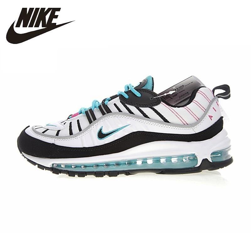Nike Air Max 98 D'origine Hommes de chaussures de course coussin d'air Authentique Confortable nouveauté Sports de Plein Air Sneakers #640744