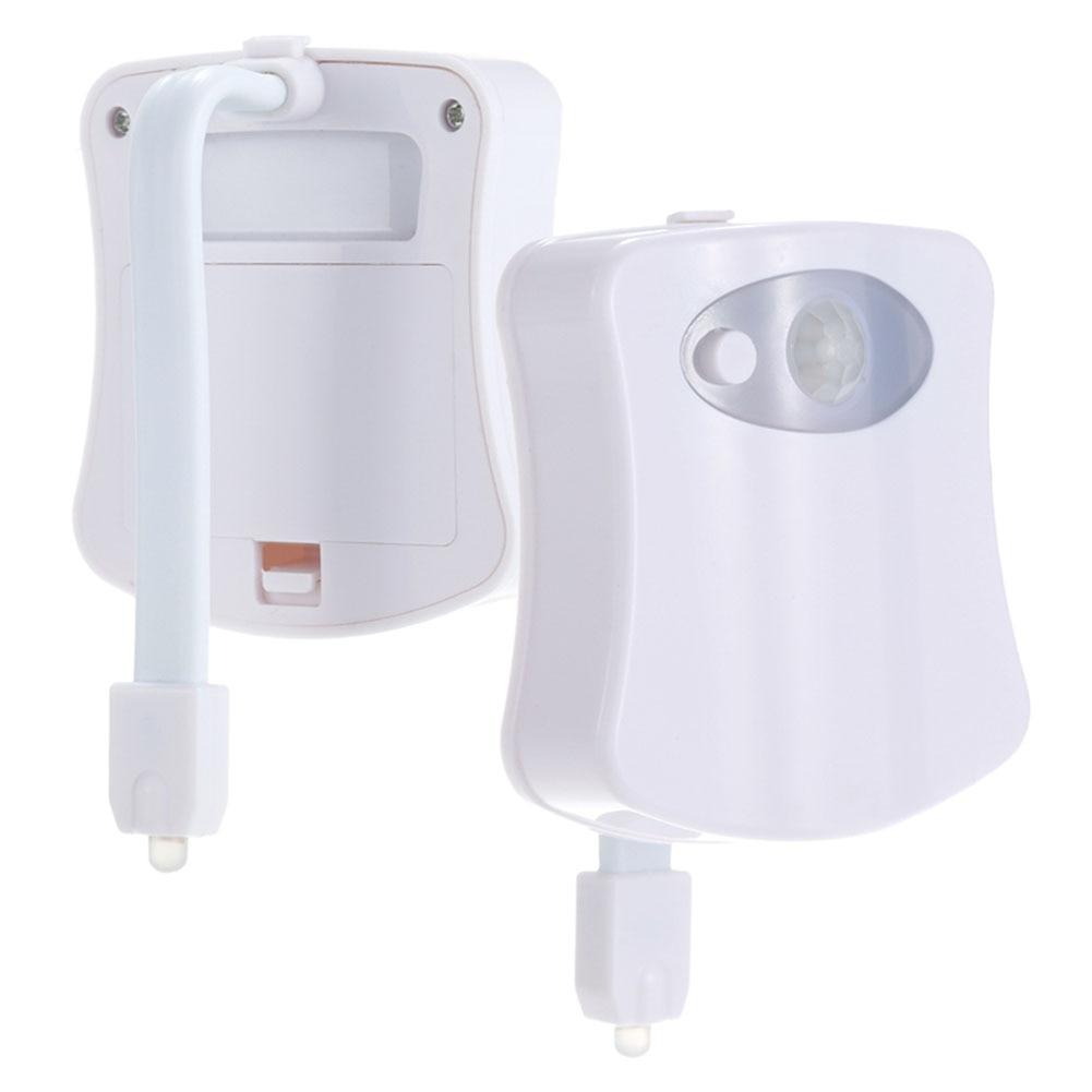 Inteligente pir sensor de movimento wc assento luz noturna 8 cores à prova dbacklight água luz de fundo para vaso sanitário bacia led luminaria lâmpada wc luz 4