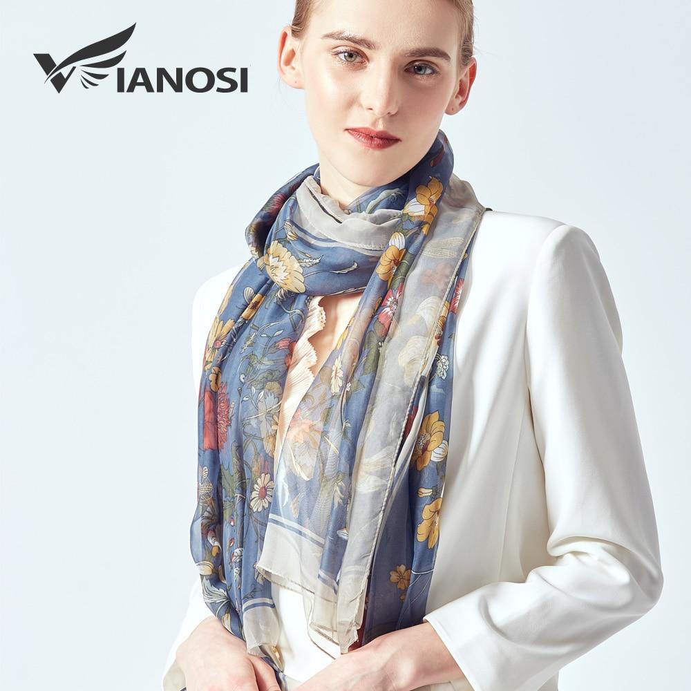 [VIANOSI] 2019 spring summer women beach silk floral head scarf new design print long soft blue shawls and wraps silk