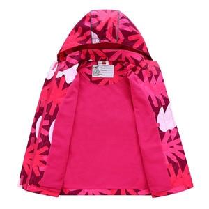 Image 4 - Waterproof Girl Jacket 2020 Spring Autumn Girls Polar Fleece Coats Children Jackets Double deck Kid Sport Jackets