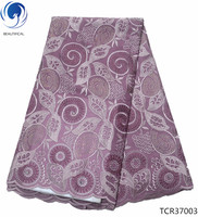 BEAUTIFICAL Swiss cotton lace stones african voile lace fabric quality swiss lace african fabric TCR370