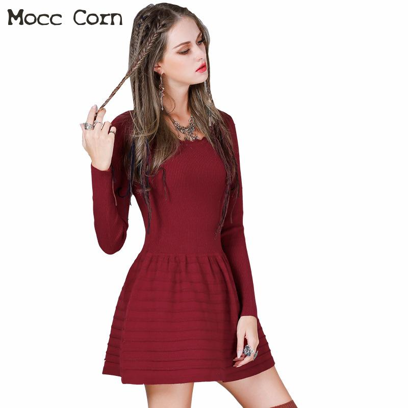 Mini Sweater Dress Wool Women Autumn Winter Jacquard Pullover Dress O neck Long Sleeve Patchwork Ruffles Slim Fit Dresses Ladies