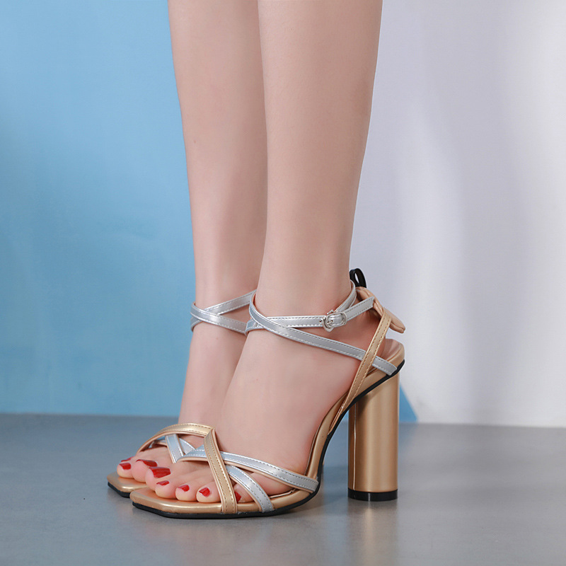 Moraima Snc 2019 New Fashion Gold And Silver Mixed Color Woman Summer Shoes Super High Heel Round Heel Elegant Lady SandalsMoraima Snc 2019 New Fashion Gold And Silver Mixed Color Woman Summer Shoes Super High Heel Round Heel Elegant Lady Sandals