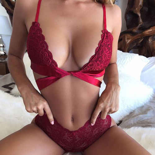 5a6b0ea613 ... Hot Women Sexy Sissy Lace Bra Set Lingerie Thong See Through Push Up  Bralette Nightwear ...