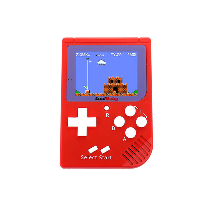Coolbaby Rs-6 Portable Retro Mini Handheld Game Console Built-In 129 Classic Games 8 Bit 2.5 Inch Color Lcd Game Player
