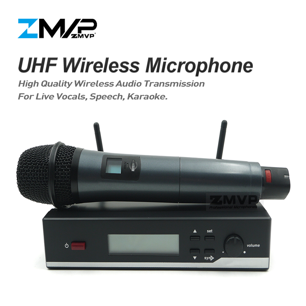 Free shipping! SW 35 Professional UHF Wireless Microphone Wireless System With Handheld Transmitter For Stage Singer Vocal Set professional vocal set wireless microphone system for crystal clear sound with range of 80 meters l 706