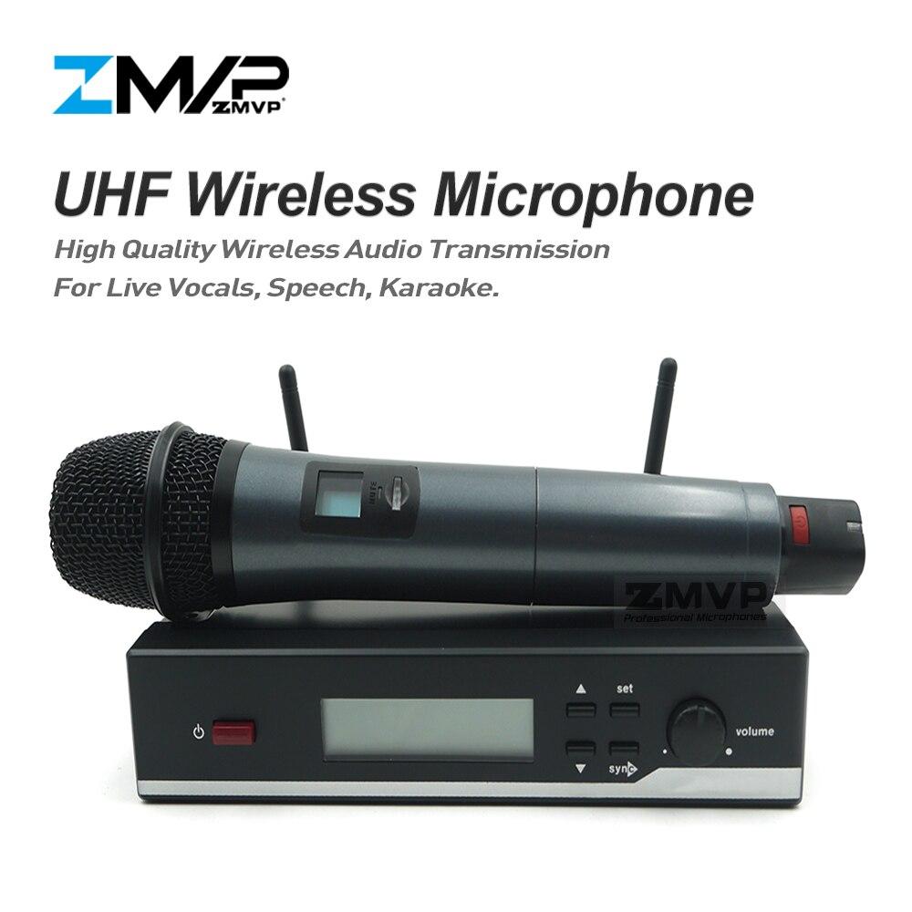 Livraison gratuite! Système sans fil professionnel de Microphone d'uhf de SW 35 avec l'émetteur tenu dans la main pour l'ensemble Vocal de chanteur de scène