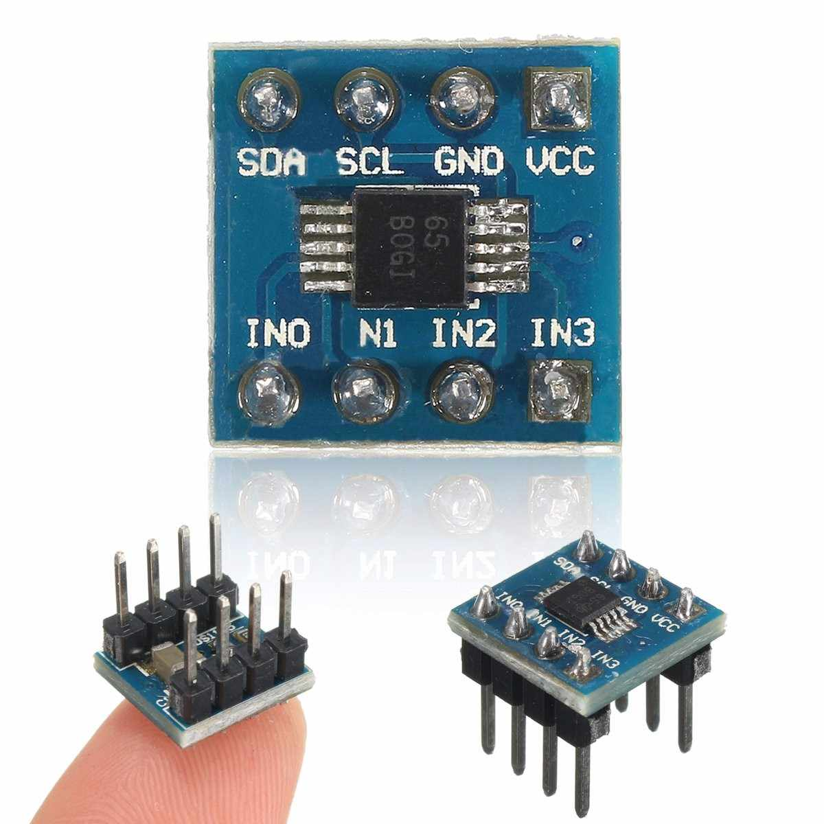 CLAITE 1 PC Mini 4 ช่อง ADS1115 โมดูล 16 บิต I2C ADC โมดูล Pro Gain Amplifier
