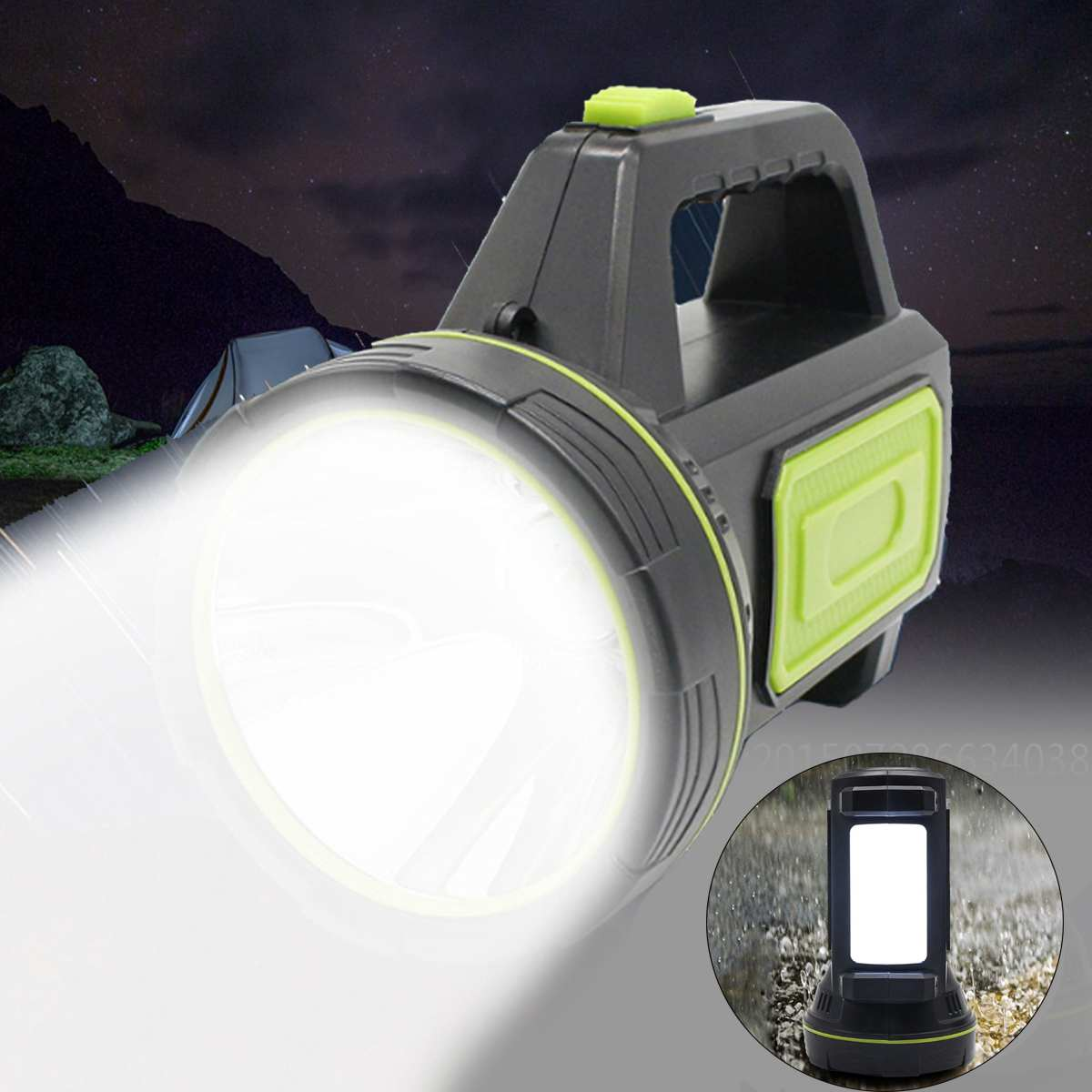 Handheld Light Rechargeable LED Flashlight Spotlight Lantern Searchlight Handheld Portable Flashlight For Outdoor Camping Travel