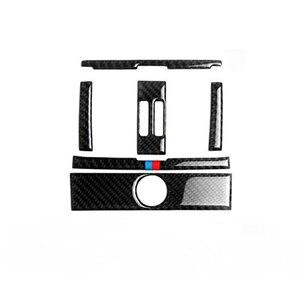 Image 2 - Для BMW 3 серии GT F30 F34 2013 2014 2015 Автомобильный Центр управления кондиционер вентиляционное отверстие рамка из углеродного волокна крышка наклейка