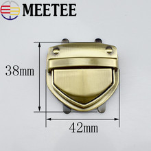 hot deal buy 1pcs bag lock / hardware lock bag hardware accessories duck tongue lock gold metal lock switch lock